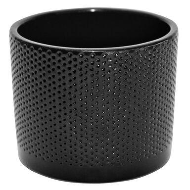 Osłonka ceramiczna 13.6 cm czarna WALEC