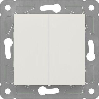 Włącznik schodowy podwójny EDG1006W  biały  LEXMAN