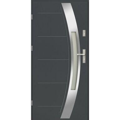 Drzwi zewnętrzne stalowe SIENNA Antracyt 90 Lewe EVOLUTION