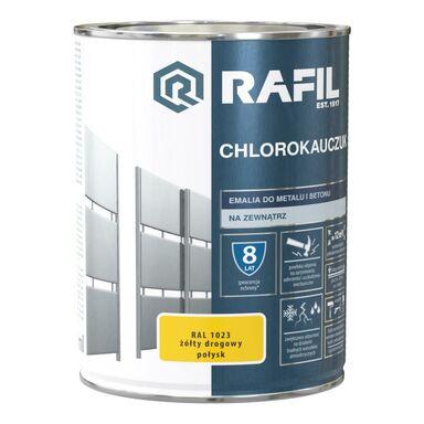 Emalia do metalu i betonu CHLOROKAUCZUK 0.9 l Żółty drogowy RAL 1023 RAFIL