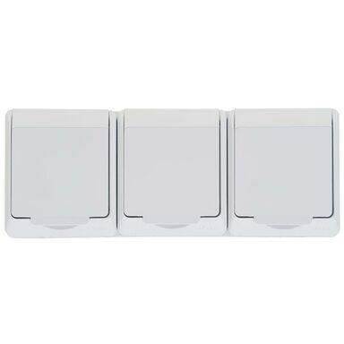 Gniazdo potrójne  3 x 2P + Z HERMES  biały  ELEKTRO - PLAST
