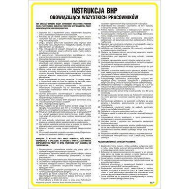 Znak informacyjny INSTRUKCJA OGÓLNA BHP 24.5 x 35 cm
