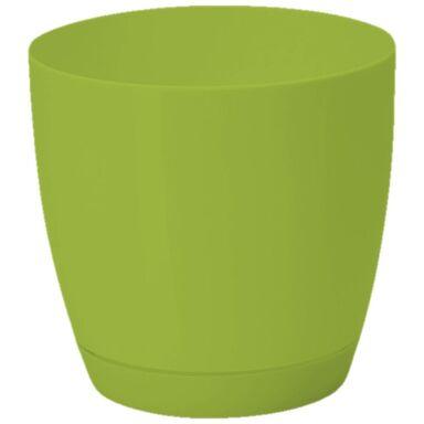 Doniczka plastikowa 22 cm zielona TOSCANA FORM-PLASTIC
