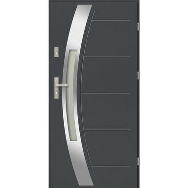 Drzwi zewnętrzne stalowe SIENNA Antracyt 90 Prawe EVOLUTION