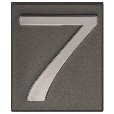 Cyfra 7 wys. 5 cm PVC grafitowa
