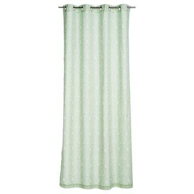 Zasłona gotowa VASCO  kolor Zielony 140 x 250 cm Kółka 160 g/m²  INSPIRE
