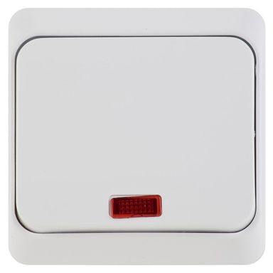 Włącznik pojedynczy z podświetleniem PRIMA  biały  SCHNEIDER ELECTRIC