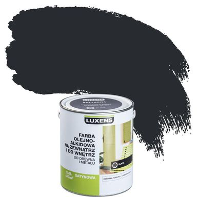 Emalia OLEJNO-ALKIDOWA 2,5 l Black LUXENS