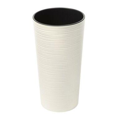 Doniczka plastikowa 25 cm kremowa LILIA DŁUTO