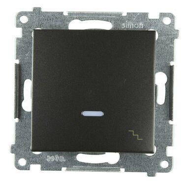 Włącznik pojedynczy schodowy z podświetleniem SIMON 54 Antracytowy SIMON