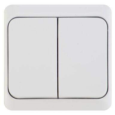 Włącznik podwójny PRIMA  Biały  SCHNEIDER ELECTRIC