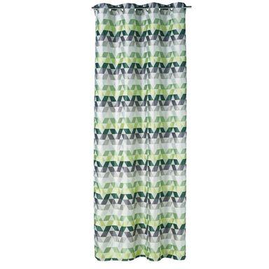 Zasłona OHARA zielona 140 x 260 cm na przelotkach INSPIRE