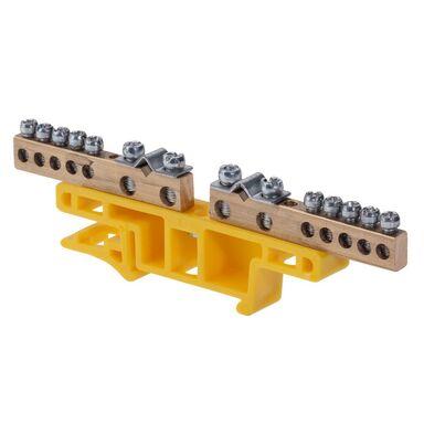 Listwa zaciskowa na szynę TH-35 do przewodów zerowych i uziemiających 0923 - 01 ELEKTRO - PLAST