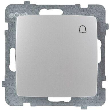Przycisk DZWONEK KARO  Srebrny  OSPEL
