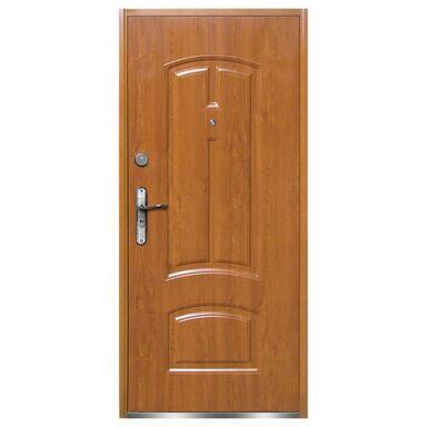 Drzwi zewnętrzne stalowe RA040 Złoty Dąb  90 Prawe OK DOORS