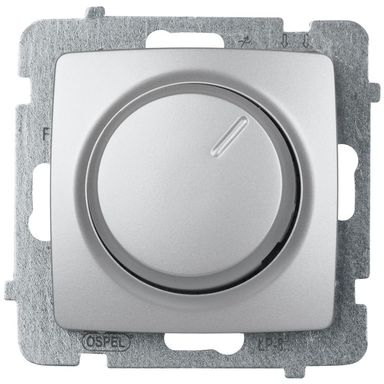 Ściemniacz przyciskowo-obrotowy KARO  srebrny perłowy  OSPEL