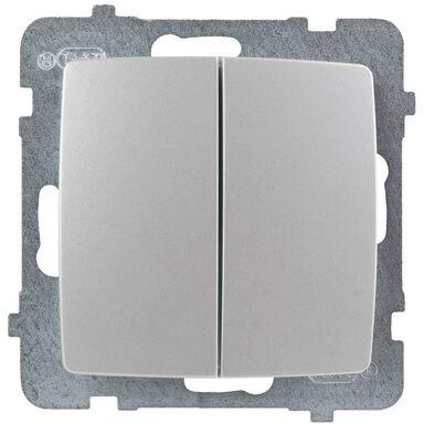 Włącznik schodowy podwójny KARO  perłowy  OSPEL