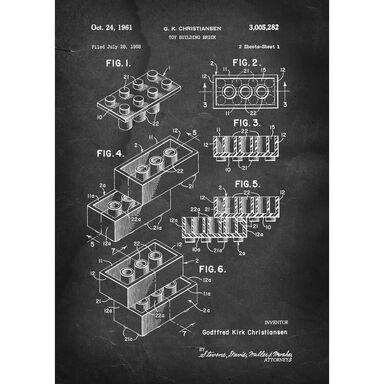 Obraz na metalu KLOCEK LEGO 32 x 45 cm