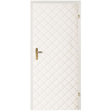 Tapicerka drzwiowa karo 10*10 biały T3K10-BI szer. 105  wys. 210 cm