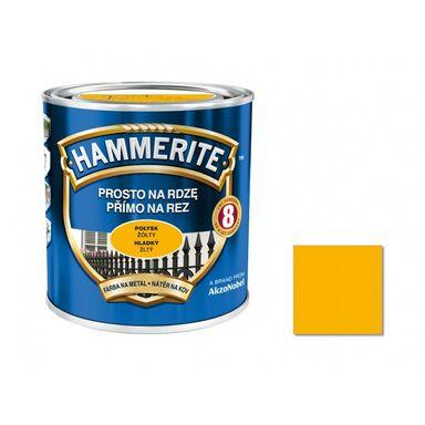 Farba antykorozyjna PROSTO NA RDZĘ 0.7 l Żółty Połysk HAMMERITE