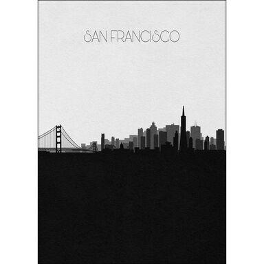Obraz na metalu SAN FRANCISCO 32 x 45 cm