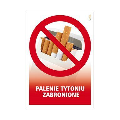Znak informacyjny PALENIE TYTONIU ZABRONIONE 14.8 x 21 cm