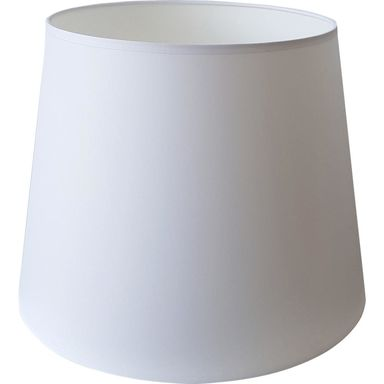 Abażur 9992 owalny 20-25 x 20 cm tkanina biały E27 TK LIGHTING