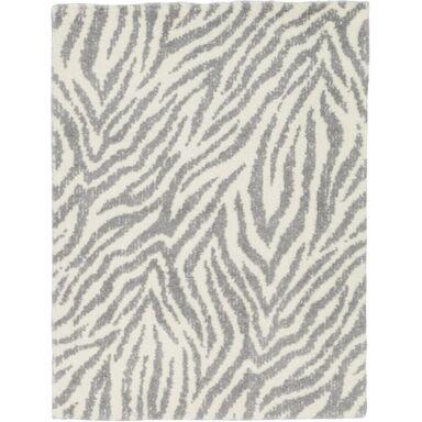 Dywan shaggy Yoki Mai szaro-biały 120 x 160 cm