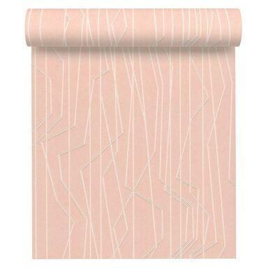 Tapeta SPART różowa winylowa na flizelinie
