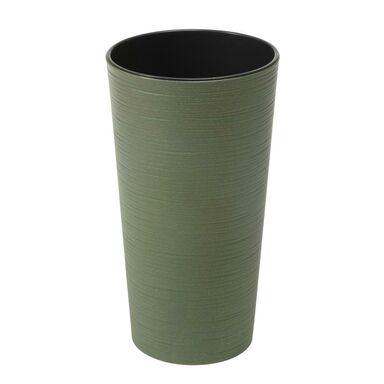 Doniczka plastikowa 25 cm zielona LILIA DŁUTO