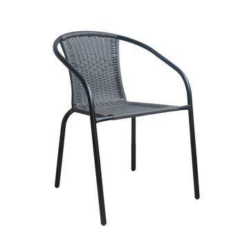 Krzesło ogrodowe BISTRO antracytowe EUROHIT GARDEN