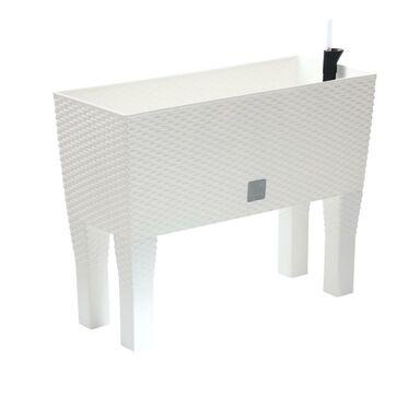 Skrzynka balkonowa 60 x 25 cm plastikowa biała z systemem nawadniania RATO CASE HIGH DRTC600H PROSPERPLAST