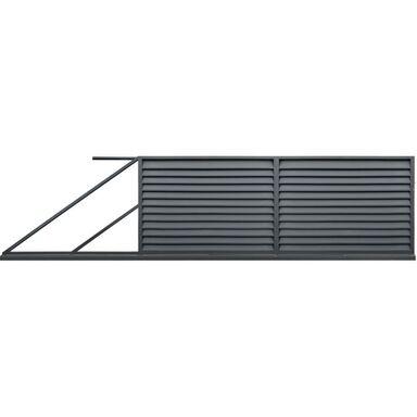 Brama przesuwna KRETA 400 x 150 cm lewa POLBRAM antracyt