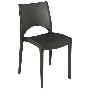 Krzesło ogrodowe PARIS plastikowe antracytowe