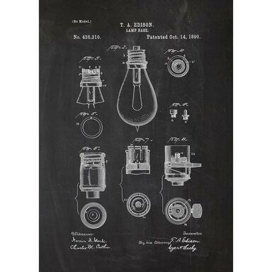 Obraz na metalu ŻARÓWKA 32 x 45 cm