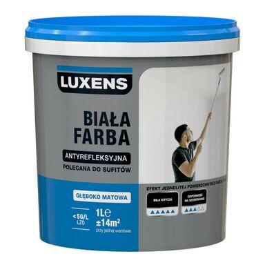 Farba Wewnetrzna Antyrefleksyjna 1 L Biala Luxens Farby Scienne Biale W Atrakcyjnej Cenie W Sklepach Leroy Merlin