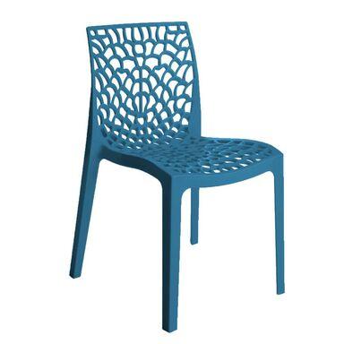 Krzesło ogrodowe GRUVYER plastikowe niebieskie