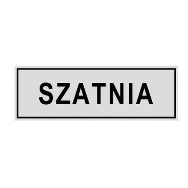 Znak informacyjny SZATNIA 8 x 22 cm