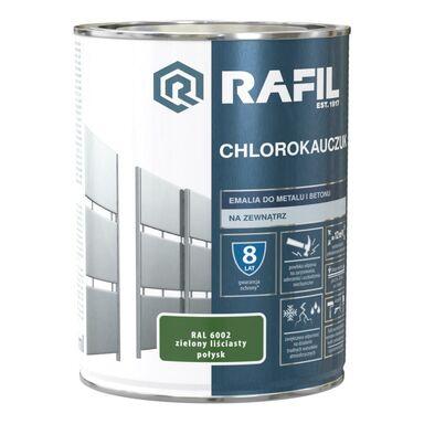 Emalia do metalu i betonu CHLOROKAUCZUK 0.9 l Zielony liściasty RAL 6002 RAFIL