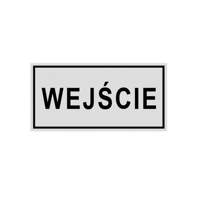Znak informacyjny WEJŚCIE 19 x 8 cm