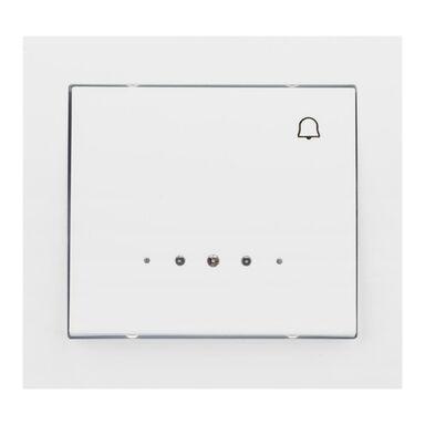 Przycisk dzwonek podświetlany KIER  biały  OSPEL