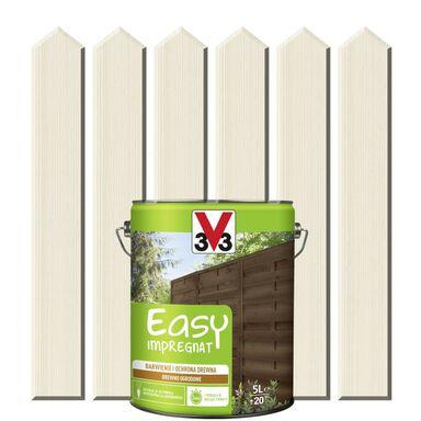 Impregnat do drewna EASY 5 l Biały V33