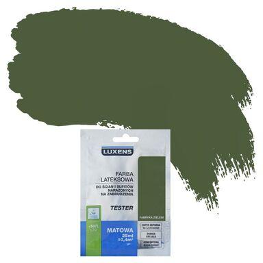 Tester farby DO ŚCIAN I SUFITÓW NARAŻONYCH NA ZABRUDZENIA 25 ml Fabryka zieleni LUXENS