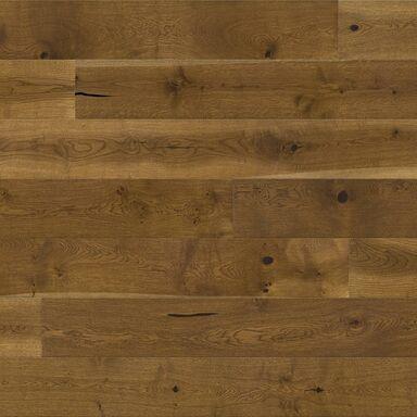 Deska trójwarstwowa Dąb various 1-lamelowa lakier matowy brązowy 14 mm Barlinek