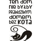 Naklejki napisy na ścianę DOM KOTA