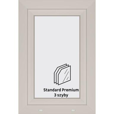 Okno PCV 3-szybowe O4 Białe 565 x 865 mm