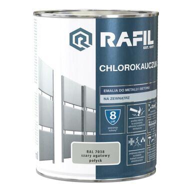Emalia do metalu i betonu CHLOROKAUCZUK 0.9 l Szary agatowy RAL 7038 RAFIL