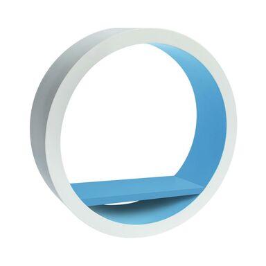 Półka ścienna okrągła biało-niebieska 30 x 30 cm Spaceo
