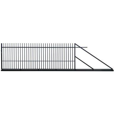 Brama przesuwna MILOS 400 x 150 cm prawa POLBRAM czarna