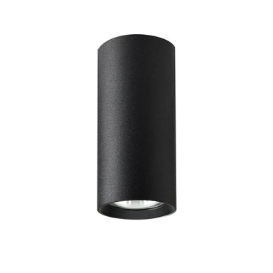 Oprawa natynkowa MANACOR IP20 wys. 13 cm śr. 6 cm czarna GU10 LIGHT PRESTIGE